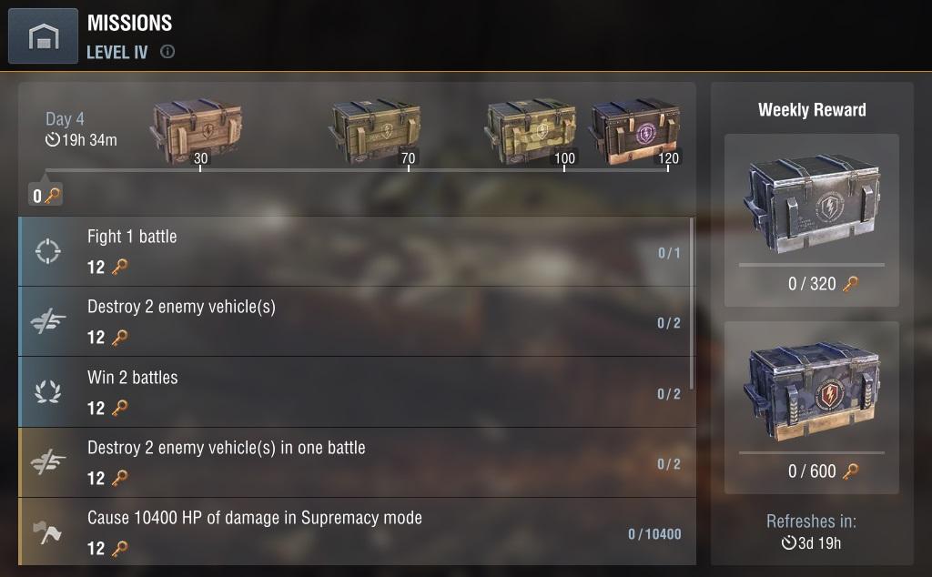 New Missions | World of Tanks Blitz